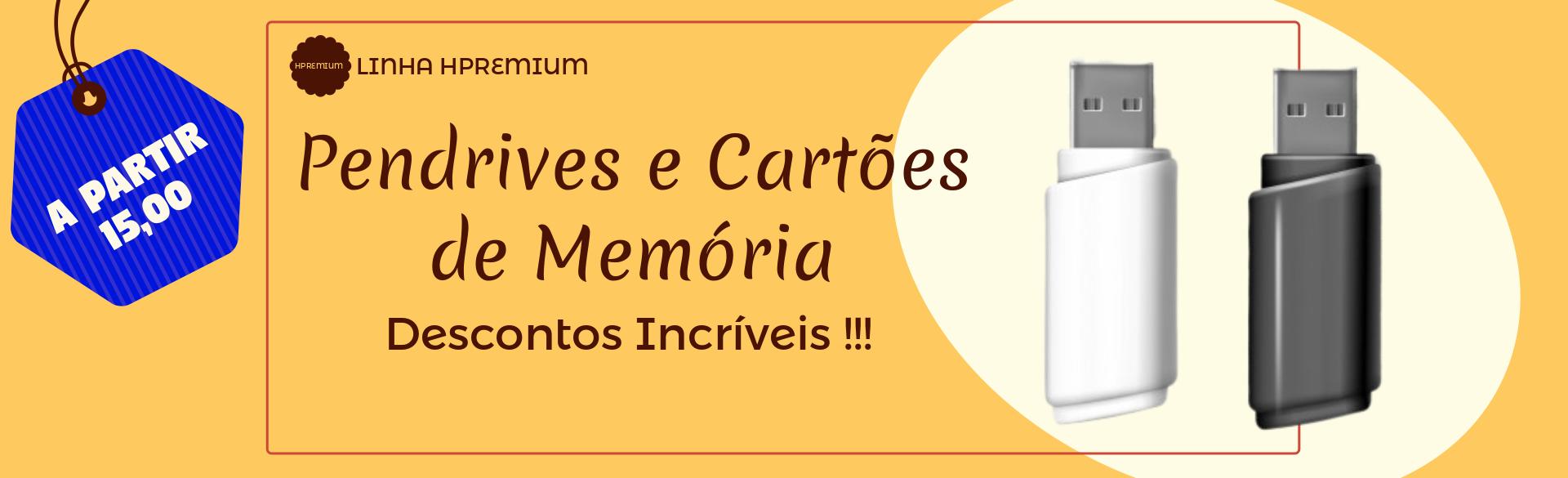 Pendrives e Cartões de Memória